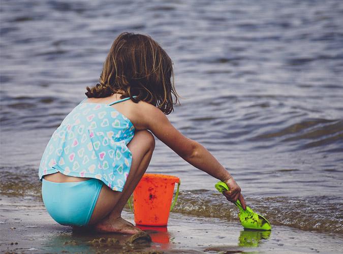 Kindvriendelijk strand Overijssel